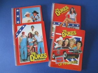 Vintage RARE Collection of 4 The Dukes of Hazzard School Notebooks 80'S