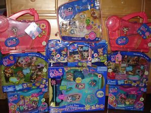 Huge Lot Littlest Pet Shop All New Pet Day Care Collector's Pack More