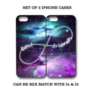 Custom Mint Purple Nebula BFF Best Friends iPhone Case 2 iPhone 4 4S 5 Cases