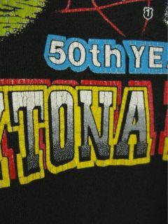 Vintage 90s Bike Week 1991 Daytona Beach T Shirt 50th Year L