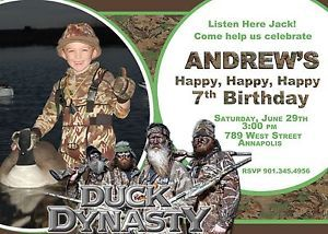 Duck Dynasty Printable Birthday Party Invitation