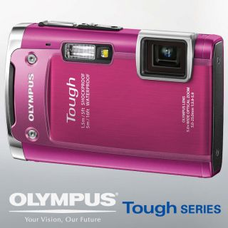 New Olympus Tough TG 615 TG615 Waterproof Camera Pink