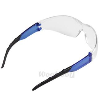 5206f551d95 ... Industrial Sports Lab Safety Protective Glasses Specs Clear Blue Black  Lens ...
