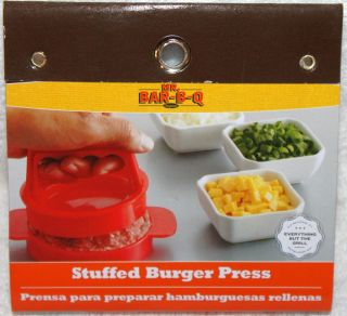 Mr Bar B Q Stuffed Burger Press Barbeque Grill Accessories