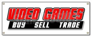 Video Games Banner Sign Buy Sell Trade Game Signs Computer Rental Rent