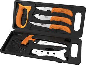 Outdoor Edge Wild Pak 8 PC Game Processing Knives Set New
