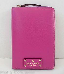 New Kate Spade Wellesley 2013 Purple Zip Around Personal Planner Organizer