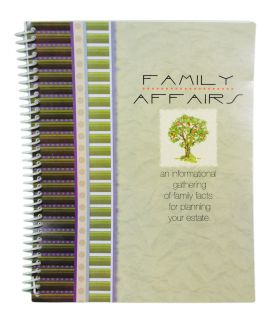 Family Affairs Estate Planner Guide Fact Information Record Organizer