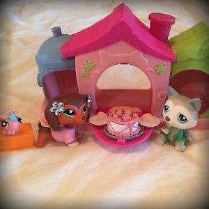 Littlest Pet Shop Lot Husky 70 Dachshund 675 House Clothes Food Caterpillar