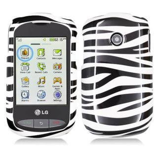 White Zebra Hard Case Cover for Tracfone LG 800G Net10 Phone Accessory