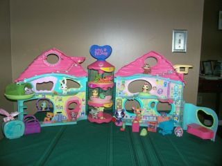 Littlest Pet Shop Lot House Biggest Pets Food Accessories Playset A