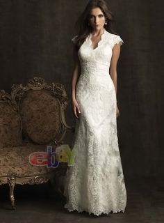New Lace White Ivory Wedding Dress Custom Size4 6 8 10 12 14 16 18