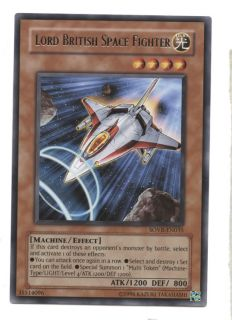 Lord British Space Fighter Yugioh Card RARE SOVR EN035