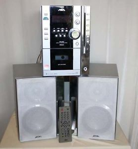 Aiwa XR MN5 Compact Shelf Stereo System 5 CD Changer with Remote