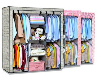 Super Large Clothes Garment Storage Portable Wardrobe Organizer Closet Rack New