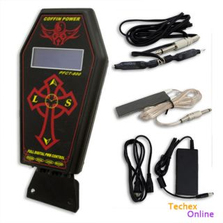 Professional Coffin Digital Dual Tattoo Power Supply Compact LCD Unique
