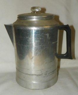 Vintage Non Electric Stove Top Percolator Coffee Maker Camping Rustic