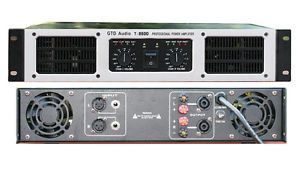 2 Channel 8500 Watts Professional Power Amplifier Amp Stereo GTD Audio T 8500