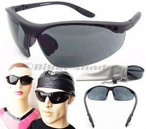 Motorcycle Bifocal Biker Riding Smoke Glasses Sunglass Goggles Z87 1 Safety Lens