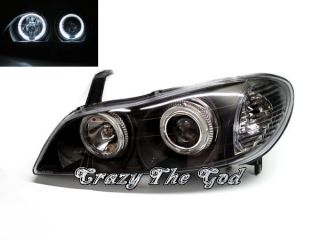 Maxima Cefiro A33 1999 2003 Angel Eye Projector Headlight Black for Nissan