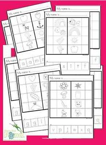 Letter Sound Match Cut Paste Worksheets Printable PDF Teaching Resource