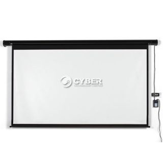 "120"" Electric Motorized Remote Projection Screen Movie Projector Black Matt DZ88"