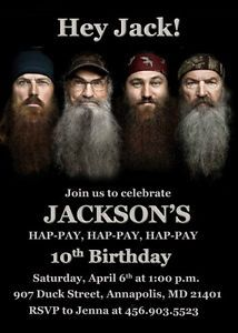 Duck Dynasty Birthday Party Invitation Digital Printable