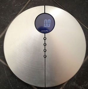Cheap Bargain Hanson Designer Bathroom Scales Weight Brushed Silver Digital LCD