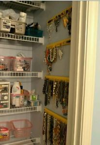 Jewelry Organizer Wall Mount Necklace Bracelet Holder Display Hanging Rack