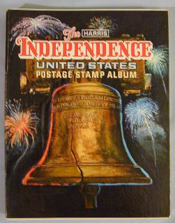 H E Harris Independence U s Stamp Album Approximately 650 Stamps Through 1995