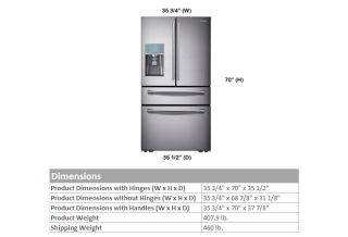 Samsung RF31FMESBSR SST 31 CU ft French 4 Door Refrigerator 284D