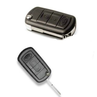 Uncut Flip Folding Key Remote 3BT Shell Case fo Land Rover Range Rover Sport LR3