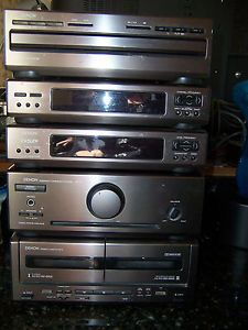Denon D 700 5 Piece Shelf Stereo System CD Amplifier Dual Cassette Tuner