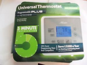 Hunter Model 44277 Universal Thermostat Programmable Plus