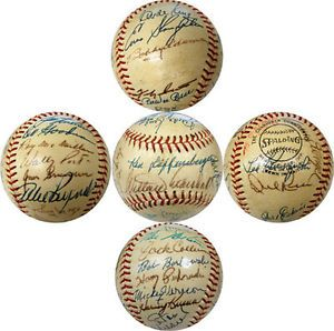 1973 Old Timers Game Signed Charles Feeney National League Baseball