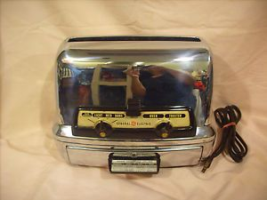 Vintage General Electric GE Chrome Toaster Oven 25T83 Retro Works Great