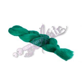 100 Kanekalon Jumbo Braid Synthetic Hair for Dreads Diversity Petrol Green