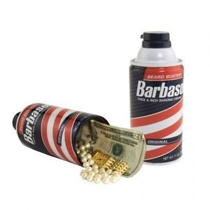 Barbasol Shaving Cream Hidden Fake Can Safe Diversion New Cash Jewelry