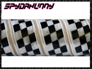 Checkerboard Sew on High Gloss 5cm Width Phat Pants Reflective Tape x 1M