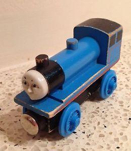 Thomas Train Wood Edward Flat Magnets Wooden Staples Car Set RARE 1992