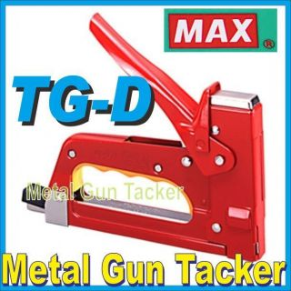 Japan Max TG D Gun Tacker Heavy Duty Stapler Use Staples 3 1M 24 6 T3 10 13 MB