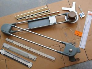 24 RH Ke Drafting Machine Vemco Scales Triangular Tools Alvin