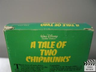 A Tale of Two Chipmunks VHS Walt Disney Home Video