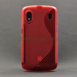 ZTE Skate Medion Life P4310 Base Lutea 2 TPU Gel Tasche Cover Hülle Etui Rot SL