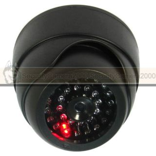 Fake Dome CCTV Security Camera with Realistic IR LED