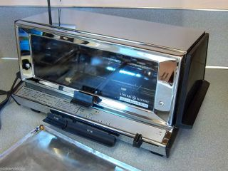 Vintage Chrome General Electric Deluxe Toast R Oven Toaster Oven with Tray