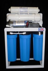 Light Commercial Reverse Osmosis Water Filter System 300 GPD Pump USA