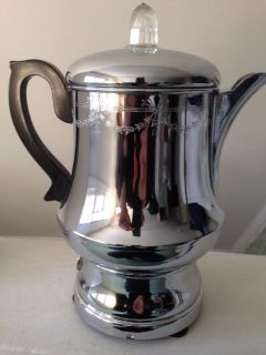 Vintage Farberware 10 Cup A10 Automatic Electric Percolator Coffee Pot