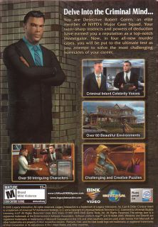 Law Order Criminal Intent Adventure PC Game New Box 020626723435