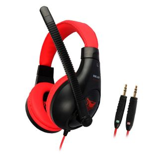 Wired Gaming Stereo Music Headset Headphone w Mic for PS3 Xbox 360 PC 3 5mm Pro